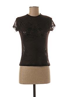 T-shirt manches courtes noir TEDDY SMITH pour femme