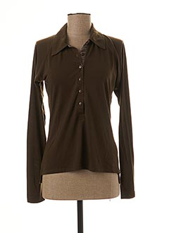 Top marron ESTABLISHED 1976 pour femme