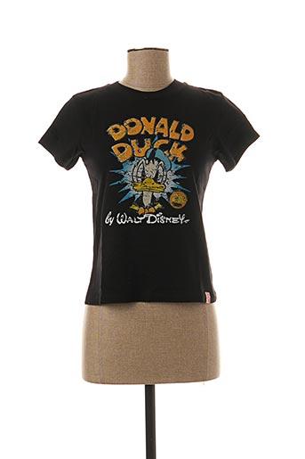 T-shirt manches courtes noir INK & PAINT pour femme