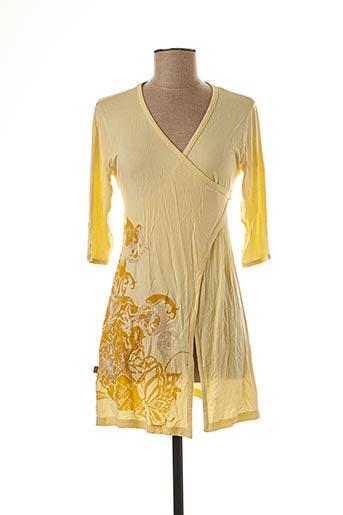 Tunique manches longues jaune BE YOU K pour femme