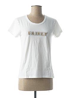 T-shirt manches courtes beige FAIRLY pour femme