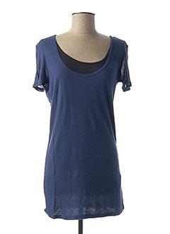 T-shirt manches courtes bleu G STAR pour femme
