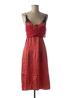 Robe mi-longue rouge GUESS JEANS pour femme