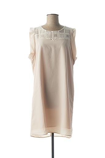 Robe mi-longue beige BONSUI pour femme