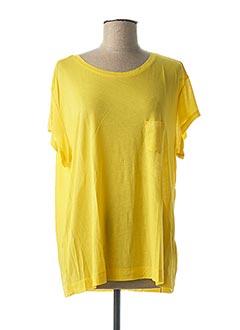 T-shirt manches courtes jaune G STAR pour femme