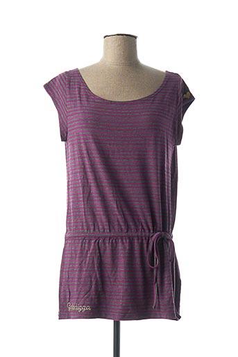 Tunique manches courtes violet GOLDDIGGA pour femme