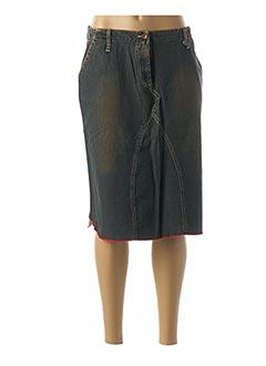Jupe mi-longue marron TEDDY SMITH pour femme