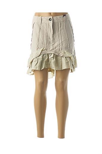 Jupe courte beige DDP pour femme