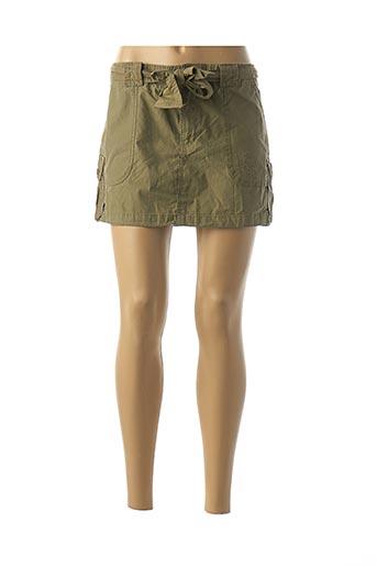 Mini-jupe vert BLEND SHE pour femme
