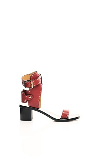 Sandales/Nu pieds rouge ISABEL MARANT pour femme