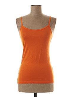 Top orange GIORGIO BARBARA pour femme