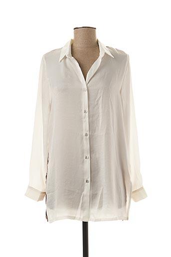 Tunique manches longues blanc MALOKA pour femme