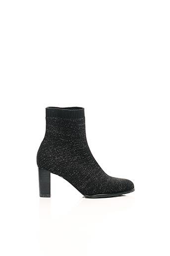 Bottines/Boots noir FUGITIVE BY FRANCESCO ROSSI pour femme