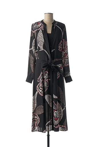 Robe mi-longue noir COMMA, pour femme
