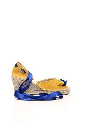 Espadrilles jaune COSTA pour femme