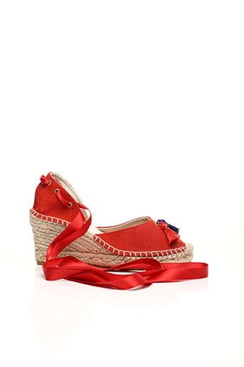 Espadrilles rouge COSTA pour femme