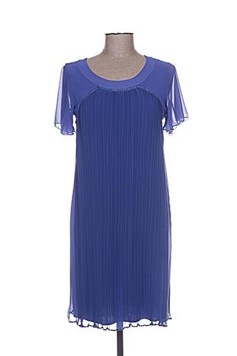 Robe mi-longue bleu IMPULSION pour femme
