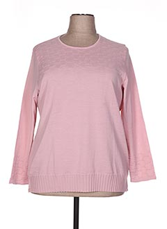 Pull col rond rose GUY DUBOUIS pour femme
