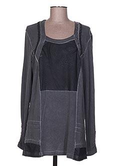 Tunique manches longues gris GUY DUBOUIS pour femme