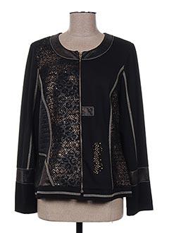 Veste casual noir FRANCE RIVOIRE pour femme