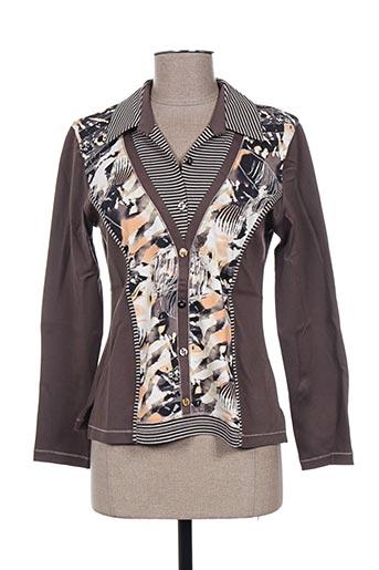 T-shirt manches longues gris IMPULSION pour femme