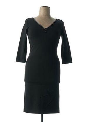 Robe mi-longue noir ANGELO MARANI pour femme