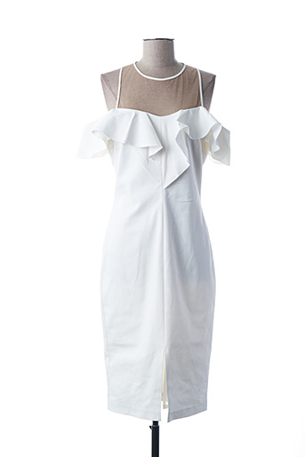 Robe mi-longue blanc ACCESS FASHION pour femme