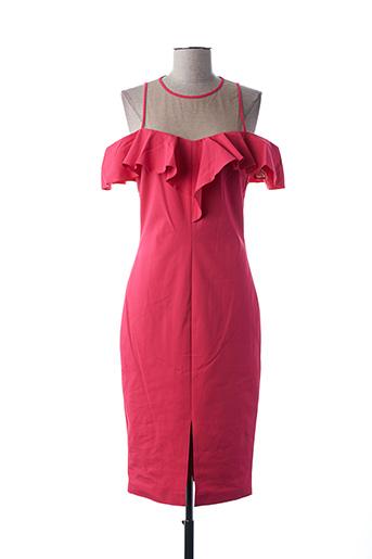 Robe mi-longue rose ACCESS FASHION pour femme