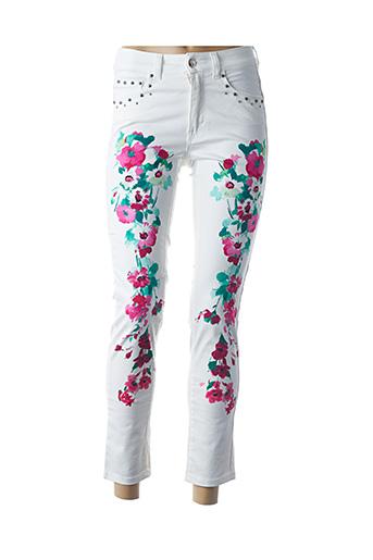 Pantalon 7/8 blanc ANGELO MARANI pour femme