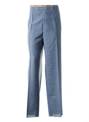 Pantalon chic bleu FRANCOIS DEGASNES pour homme