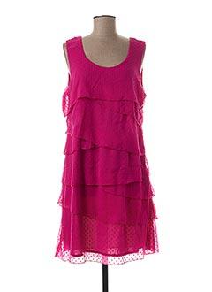 Robe mi-longue rose FELINO pour femme