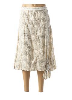 Jupe mi-longue beige EVA TRALALA pour femme