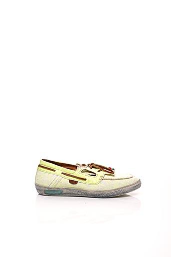 Chaussures bâteau jaune DOLFIE pour femme