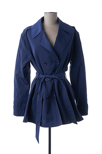 Imperméable/Trench bleu BRUNO SAINT HILAIRE pour femme