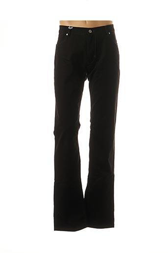 Pantalon casual noir BRUNO SAINT HILAIRE pour homme