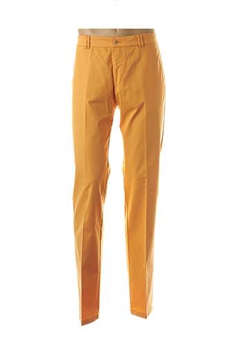 Pantalon casual orange BRUNO SAINT HILAIRE pour homme