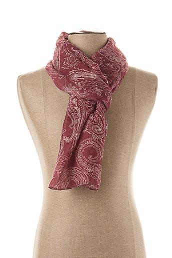 Foulard rouge BRUNO SAINT HILAIRE pour homme