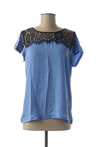 T-shirt manches courtes bleu AKOZ DE TOI pour femme