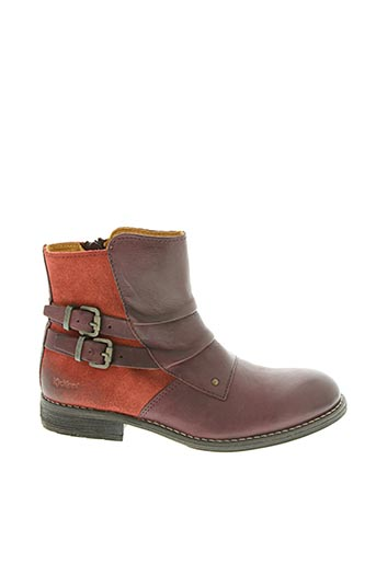 Bottines/Boots rouge KICKERS pour fille