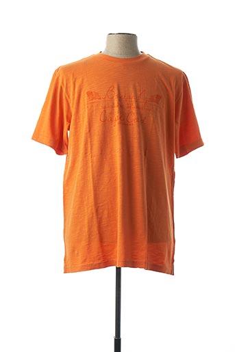 T-shirt manches courtes orange CASAMODA pour homme