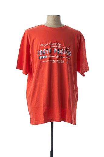 T-shirt manches courtes orange GREYES pour homme