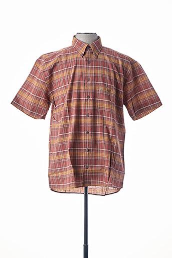 Chemise manches courtes orange CAMEL ACTIVE pour homme