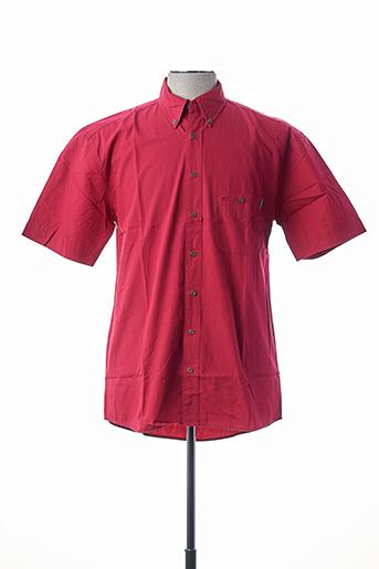 Chemise manches courtes rouge CAMEL ACTIVE pour homme