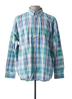 Chemise manches longues bleu BRAND pour homme