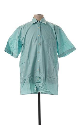 Chemise manches courtes vert SEIDEN STICKER pour homme