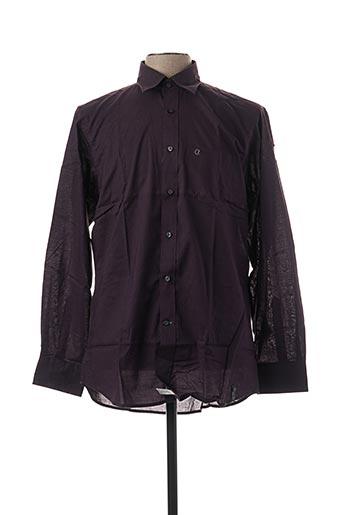 Chemise manches longues violet CALAMAR pour homme
