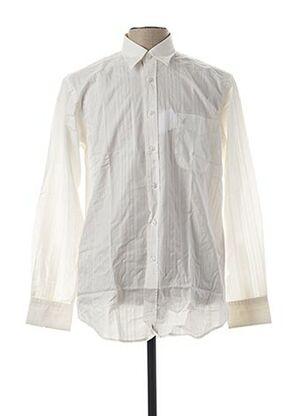 Chemise manches longues blanc TREK & TRAVEL pour homme