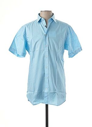 Chemise manches longues bleu DANIEL HECHTER pour homme