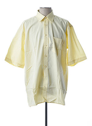Chemise manches courtes jaune SEIDEN STICKER pour homme