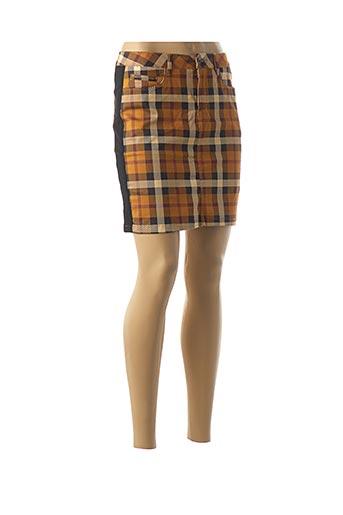 Jupe courte marron DENIM &DRESS pour femme